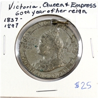 1837-1897 Victoria Queen and Empress 60th Year of Reign Medal