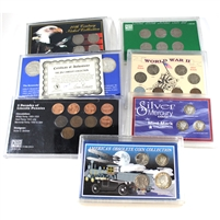 Group Lot of Assorted USA Historic and Commemorative Coin Sets, 7Pcs