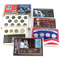Group Lot of USA Historical and Commemorative Coins Sets, 7Pcs