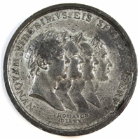 1814 Peace Medal Showing Lady Peace Holding a Cornucopia & Laurel and Four Portraits