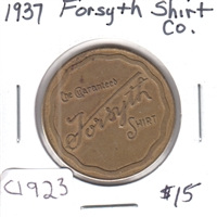 1937 Forsyth Shirt Company Good Luck Medallion
