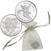 Monarch Tooth Fairy 1/10oz .999 Fine Silver. No Tax