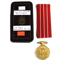 Canada Armed Forces Decoration Service Medal, Named  Cpl (Ribbon in Good Shape)