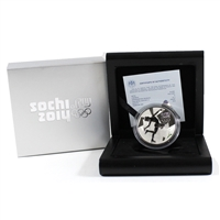 2014 Russia Sochi Figure Skating 3 Roubles Sterling Silver Proof Coin