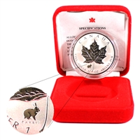 1999 Canada $5 Rabbit Privy Silver Maple Leaf in Red Box (No Tax)