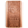 2011 One Pound .999 Fine Copper Bar (Shroomin) No Tax
