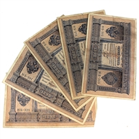5x 1898 Russia 1 Roubles notes 5pcs average condition Fine to VF (some small tears)
