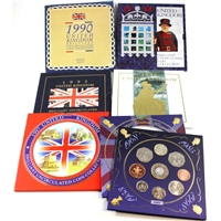 Group Lot of 1990-1998 United Kingdom Brilliant Uncirculated Coin Sets. 6Pcs.