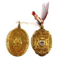 Pair of Gold Coloured Medals for Music Festivals in Canada
