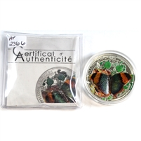 2014 Central African Rep. 1000 Francs CFA 3D Exotic Butterflies Silver (coin & COA only)