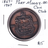 1867-1967 Canada Port Moody BC Coin Club Medallion