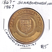 1867-1967 Canada Scarborough Centennial Celebration Medallion