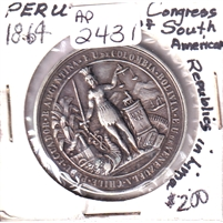 1864 Peru Congress of South American Republics in Lima