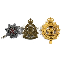 Group Lot of Assorted Military Badges and Pins, 3Pcs