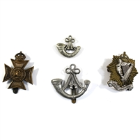 Group Lot of Assorted Military Decorative Badges, 3Pcs