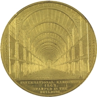 Great Britain 1862 International Exhibition Gilt Bronze Medallion