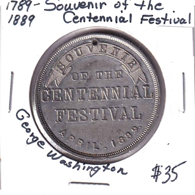 1789-1889 Souvenir of the Centennial Festival with George Washington Effigy
