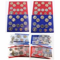 Group Lot of 2001-2013 USA P & D Uncirculated Coin Sets. 4 Sets.