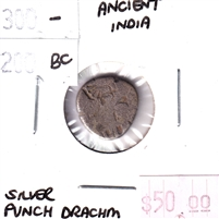 Ancient India Silver Punch Drachm 300-200 B.C.