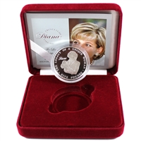 2007 Alderney Princess Diana Legacy Sterling Silver Coin in red case.