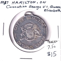 1937 George VI & Elizabeth Coronation Medal from the City of Hamilton