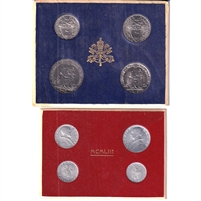 Pair of 1942 & 1953 Vatican 4-Coin Sets