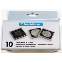Numis Quadrum Square Coin Capsules 17mm size (box of 10) QUADRUM17.