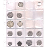 Group Lot of 1956-1982 Netherlands Coins. Assorted Denominations. 13Pcs.