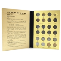 Group Lot of 1922-1987 Canada 5-Cents Collection in Red Album. 68Pcs. Incl. 1947 Dot.