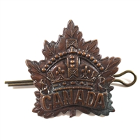 WWII Canada Crown Maple Cap Badge