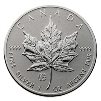 2014 Canada $5 F15 Privy Silver Maple, Original Capsule (No Tax) Light Toning Spots