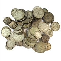 Silver Mixed Great Britain Coins (200 grams weight)