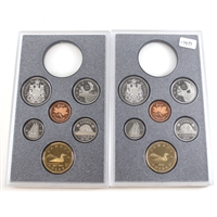 179TS. 1991 & 1992 Frosted Proof Canada 6-coin Sets - from Double Dollar Set