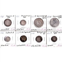 Group Lot of Assorted World Coins, 8Pcs. See photo for details.