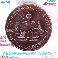 1987 Canada CNA 34th Annual Convention in Calgary Medallion - Bronze Coloured