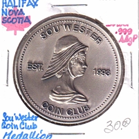 1997 Sou'Wester Coin Club Joint Meeting Ann. in Bridgewater Medallion - Silver Coloured