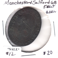 Manchester & Salford Great Britain 5-Cent Token