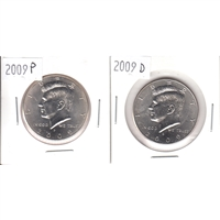 2009 USA Kennedy Half Dollars P&D. 2pcs