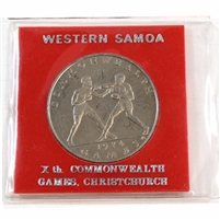 1974 Western Samoa $1 Commonwealth Games, Christchurch with holder