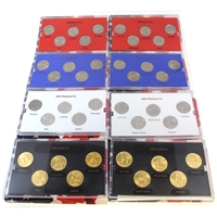 742F. 8x 2001 & 2002 United States State Quarter Collection Sets