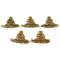 5x WWII The Royal Regiment of Canadian Artillery Cap Badge, 5Pcs