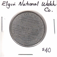Elgin National Watch Company Medallion