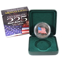 1776-2001 USA 225 Year Anniversary Sterling Silver Medallion
