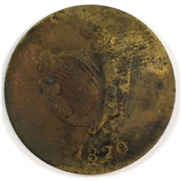 1820 Bust & Harp Lower Canada Bank Token