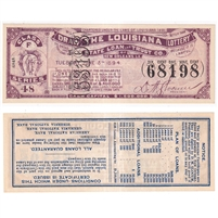 Original 1894 Louisiana Lottery Ticket Class F Series