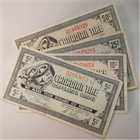 1978 Canadian Tire Gas Coupons - Gas Bar Issue VF or Better (impaired) 4pcs