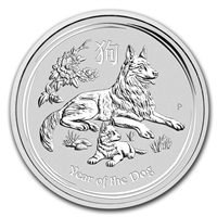 2018 Australia $1 Year of the Dog 1oz. Silver (No Tax)