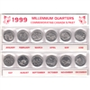 307ss 1999 Millennium 25ct Canada 12-coin set in sleeve.