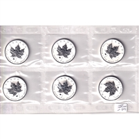 6x 2009 Canada $5 1oz .999 Silver Maple Leaf with Ox Privy, Original Seal (No Tax)