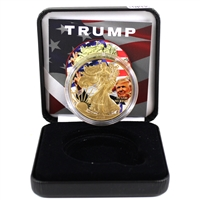 2018 US American Eagle - Trump with Gold Plating in Display (No Tax)